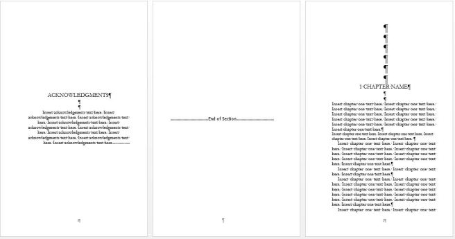 third set of pages