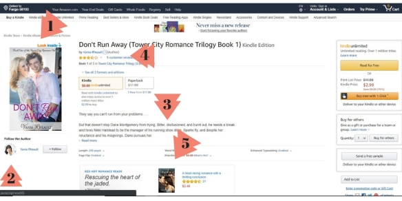 amazon sell page of a book