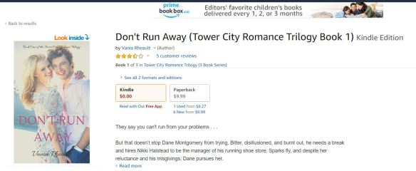 don't run away free amazon buy page