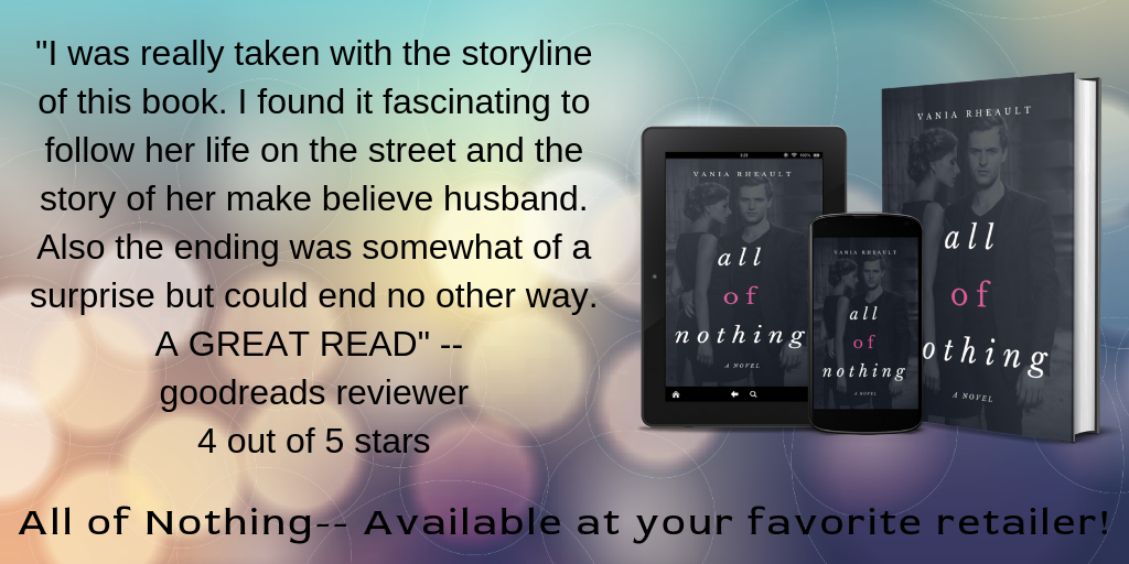 All of Nothing promo with goodreads review