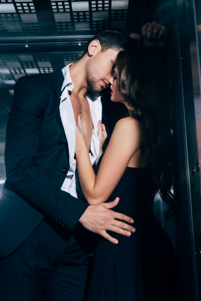 couple in elevator two
