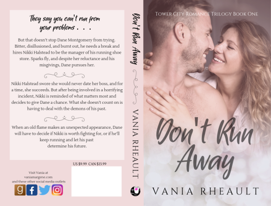 DON'T RUN AWAY paperback cover for KDP Print